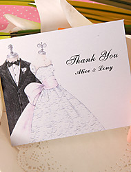 Thank You Card - Wedding (Set of 50)