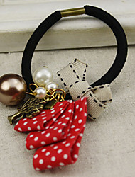 Polka Dot Mixed Charm Hair Tie