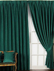 Solid Matte Casual Blackout Curtains (Two Panels)
