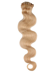 20 Inch 7 Pcs 70% Human Hair Body Wave Clip In Hair Extensions Multiple Colors Available