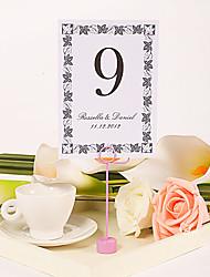 Personalized Table Number Card – Elegant Vine Border (Set of 10)