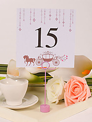 Place Cards and Holders Square Table Number Card – Horse-drawn Carriage (Set of 10)