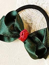 Christmas Bow Hair Tie