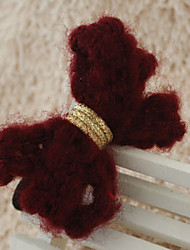 Accent Knit Bow Hair Tie