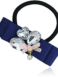 Square Ribbon with Crystal Hair Tie