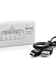 iSmart All-In-1 USB Memory Card Reader (White)