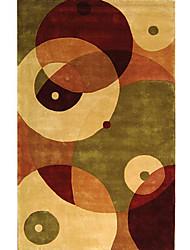 хохолком шерсти ковры области с чересстрочной круг шаблон 3 '* 5'