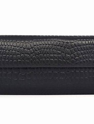 Black Crocodile Pattern Leather Wallet