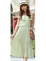 Chiffon Scoop Neck Maxi-Kleid (weitere Farben)