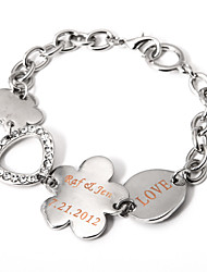 Men's/Women's Personalized/Fashion Bracelet Alloy/Leather Rhinestone