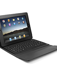 Leather Case Cover with Wireless Bluetooth Keyboard for iPad (Black)