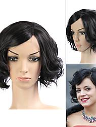 llena del cordón (cordón francés) peluca 100% humano remy del pelo de Lily Allen estilo de pelo