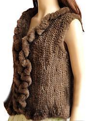Genuine Mink Fur Winter Vest