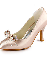 Satin Stiletto Closed Toe/ Pumps With Bow For Wedding (More Colors)