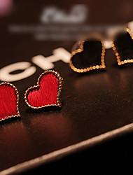 Heart Horsehair Earrings