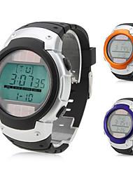 hombres y mujeres de silicona reloj de pulsera digital automático (negro)