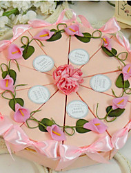 Pink Lily Cake Favor Box (Set of 10)