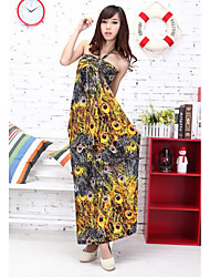 Polyester Halter Neck Maxi Dress (More Colors)