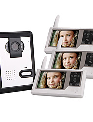 Three 2.4GHz Wireless 3.5 Inch Touch Screen Monitors Video Door Phone with Camera