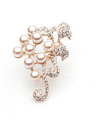 Faux Pearl&Diamond Trendy Brooch
