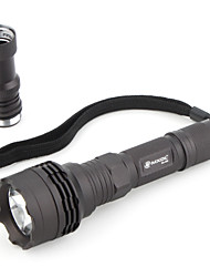 MXDL 3-Mode LED Flashlight with Extension Tube (1x14500, Black)