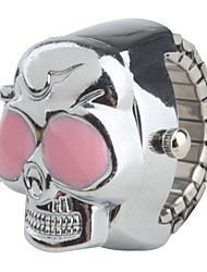 Women's Japanese Quartz Quartz Band Skull Silver