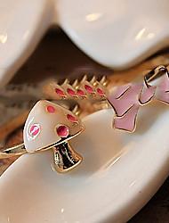 rosa arcos anel de corte cogumelo