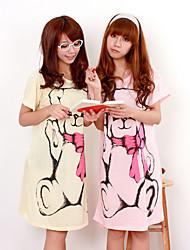 Bear Print Loose Nightwear