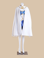 Inspired by Puella Magi Madoka Magica Sayaka Miki Anime Cosplay Costumes Cosplay Suits Patchwork White SleevelessCloak / Top / Skirt /
