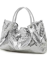 donne a doppia faccia lustrini tote / handbag