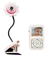 """De audio de 2,4 GHz de palma inalámbrica y monitor de video de seguridad bebé con 2,5 """"TFT LCD"""
