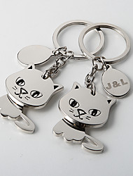 Gift Groomsman Personalized Key Ring – Kitties (Set of 4)