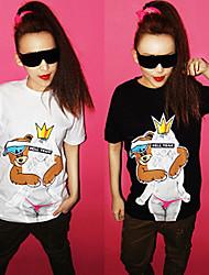 Cute Bear Print Short Sleeve T-shirt