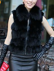 colletto senza maniche di pelliccia di volpe carriera / casual gilet (altri colori)