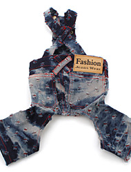 Fashionable Jean Wear for Dogs (XS-XXL, Blue)