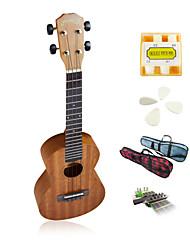 yadars - ukulele mogno concerto com tubo show saco / pitch / picaretas / capo