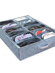 12 compartimentos de armazenamento saco transparente sapato