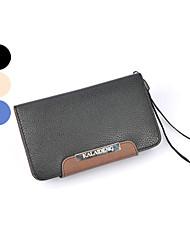 Pour Samsung Galaxy Coque Porte Carte / Portefeuille / Clapet Coque Coque Intégrale Coque Couleur Pleine Cuir PU Samsung Note
