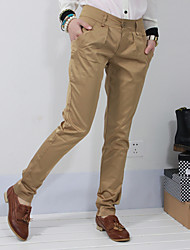 хлопок середине поднимаются узкие брюки