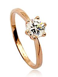 Licht Metaal Dames Ringen Kristal Licht Metaal