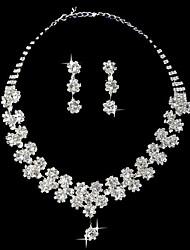 """conjunto de belas senhoras strass flor pequena """"jóia (45 cm)"""