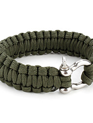 Para-Cord Survival Bracelet with Aluminium Connection Buckle (Green)