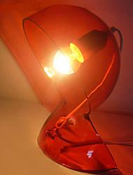 tafellamp met 1 licht in het rood