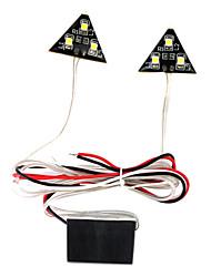 6 SMD LED машина автомобиль автомобиль белого света треугольной формы