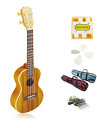 Yadars - Concert Ukulele with Gig Bag/Pitch Pipe/Picks/Capo