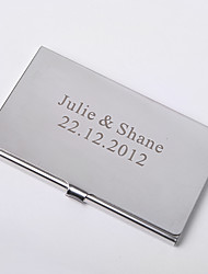 Personalized Card Case Doubled As Compact Mirror (Set of 4)