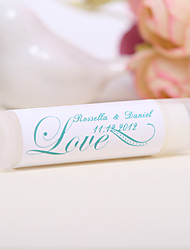 Personlized Lip Balm Tube Favors - Love (Set of 12)