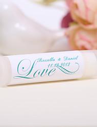 Personlized Lip Balm Tube Favors - Love (Set of 12)
