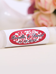 Personlized Lip Balm Tube Favors - Happiness (Set of 12)