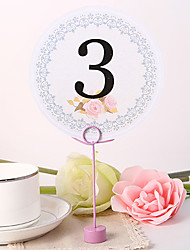 Round Table Number Card - Classic Line
